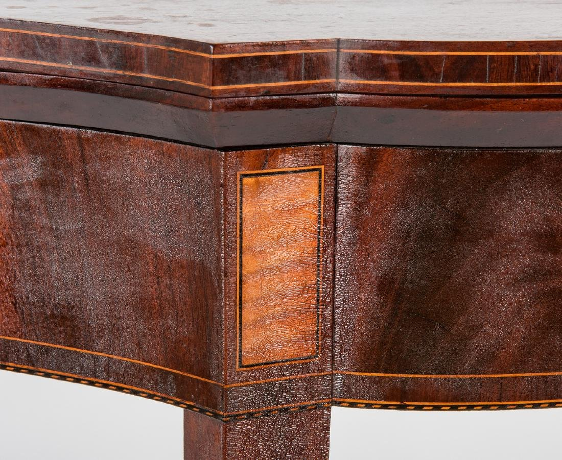 Federal Inlaid Game Table, Seymour School - 7
