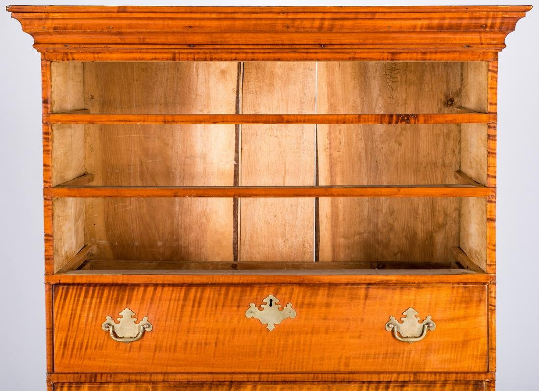 Tiger Maple Chest on Chest, NH Provenance - 5