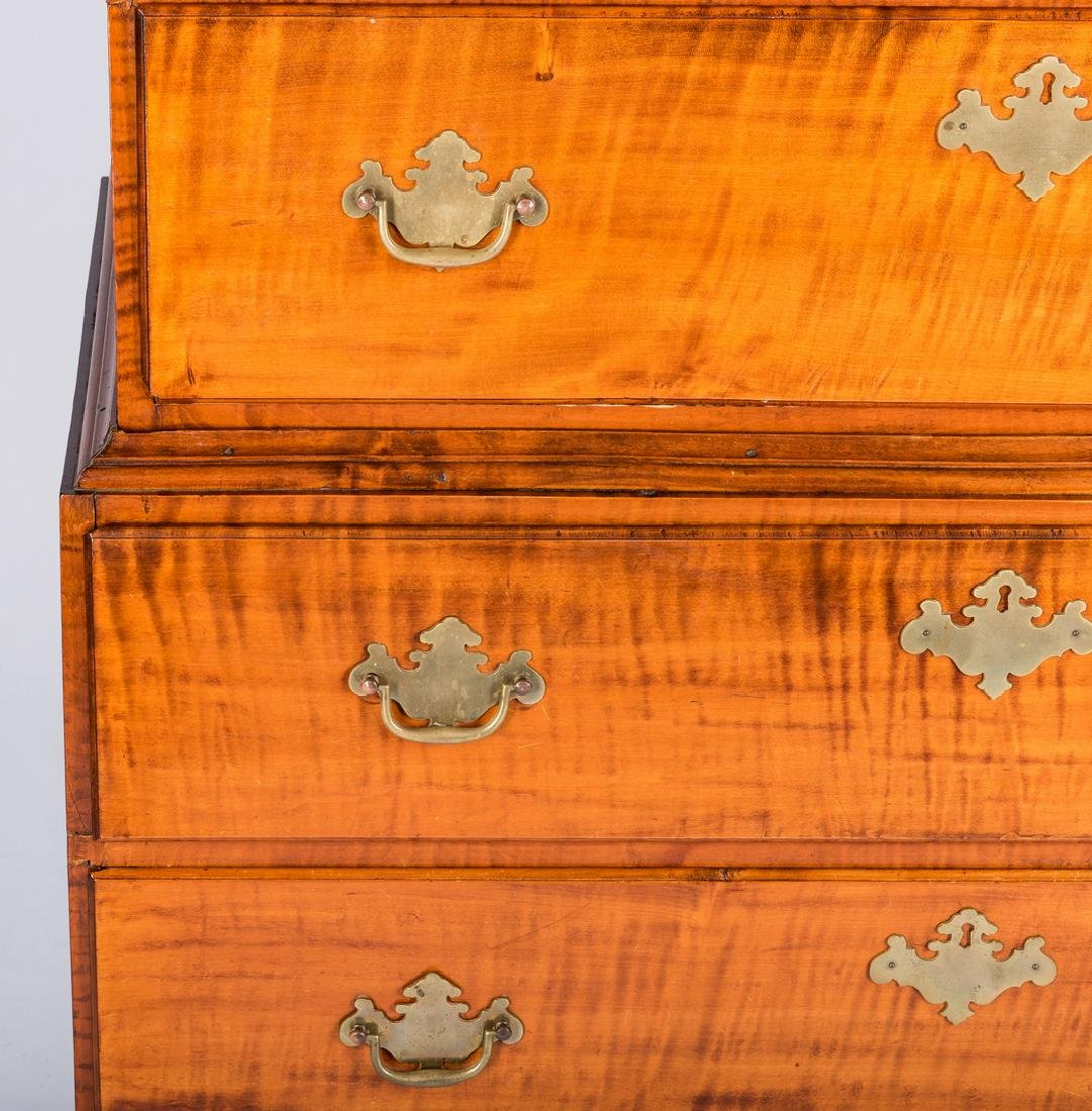 Tiger Maple Chest on Chest, NH Provenance - 7