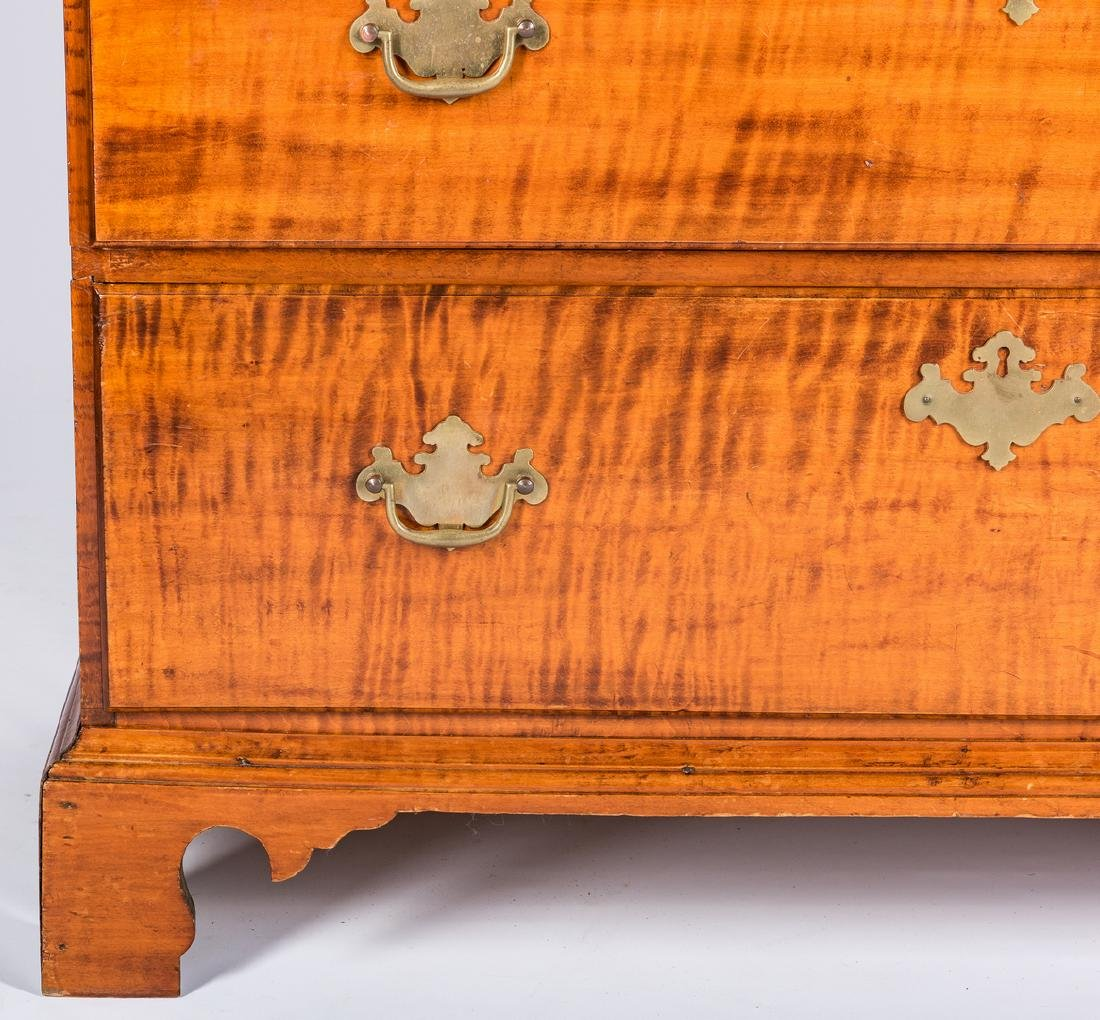 Tiger Maple Chest on Chest, NH Provenance - 9