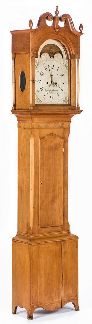 Soloman Parke Federal Inlaid Tall Clock - 2