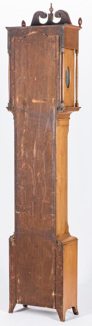 Soloman Parke Federal Inlaid Tall Clock - 6