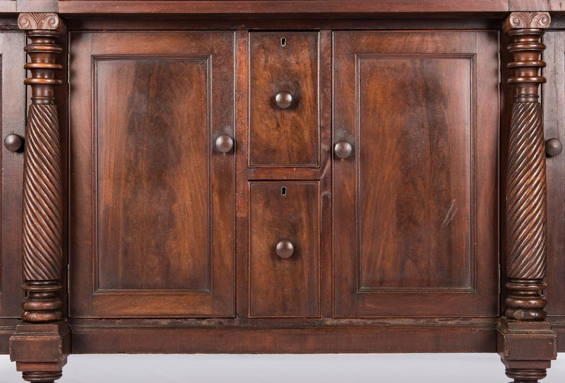 Signed East TN Late Classical Mahogany Sideboard - 4