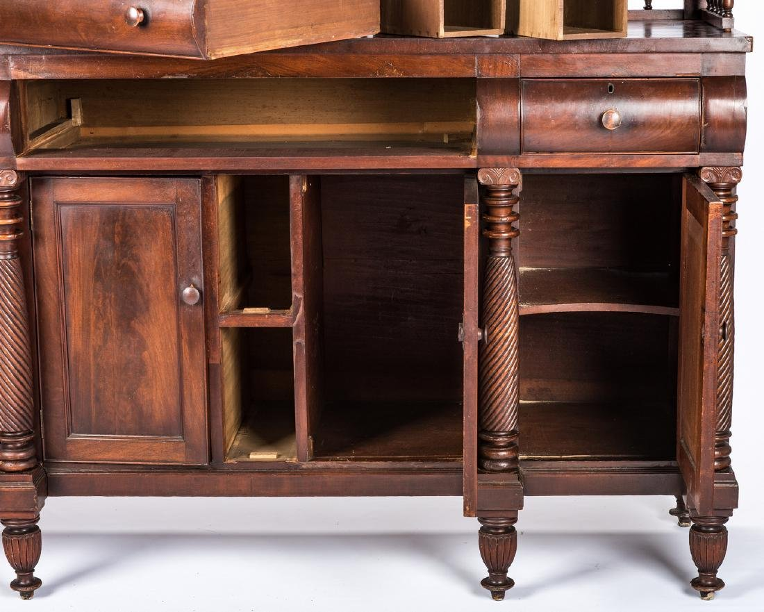 Signed East TN Late Classical Mahogany Sideboard - 5