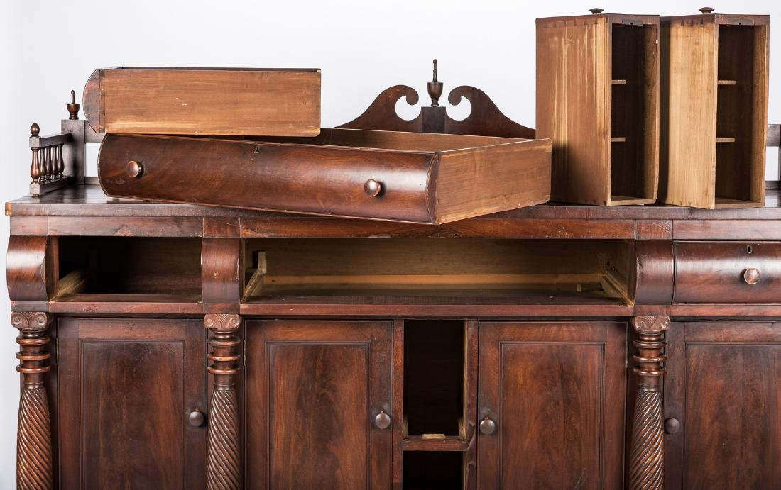 Signed East TN Late Classical Mahogany Sideboard - 6