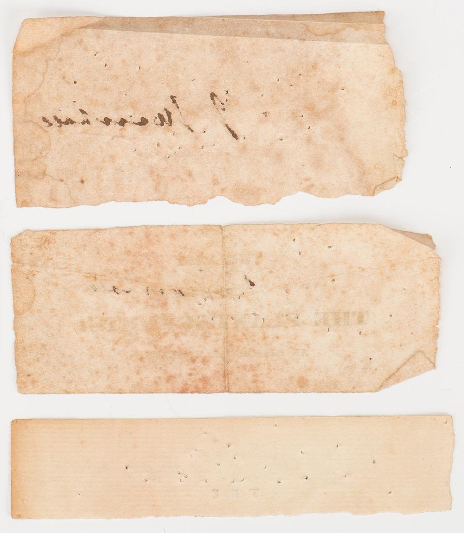 1 George Washington & 2 John Marshall Cut Signatures, - 4
