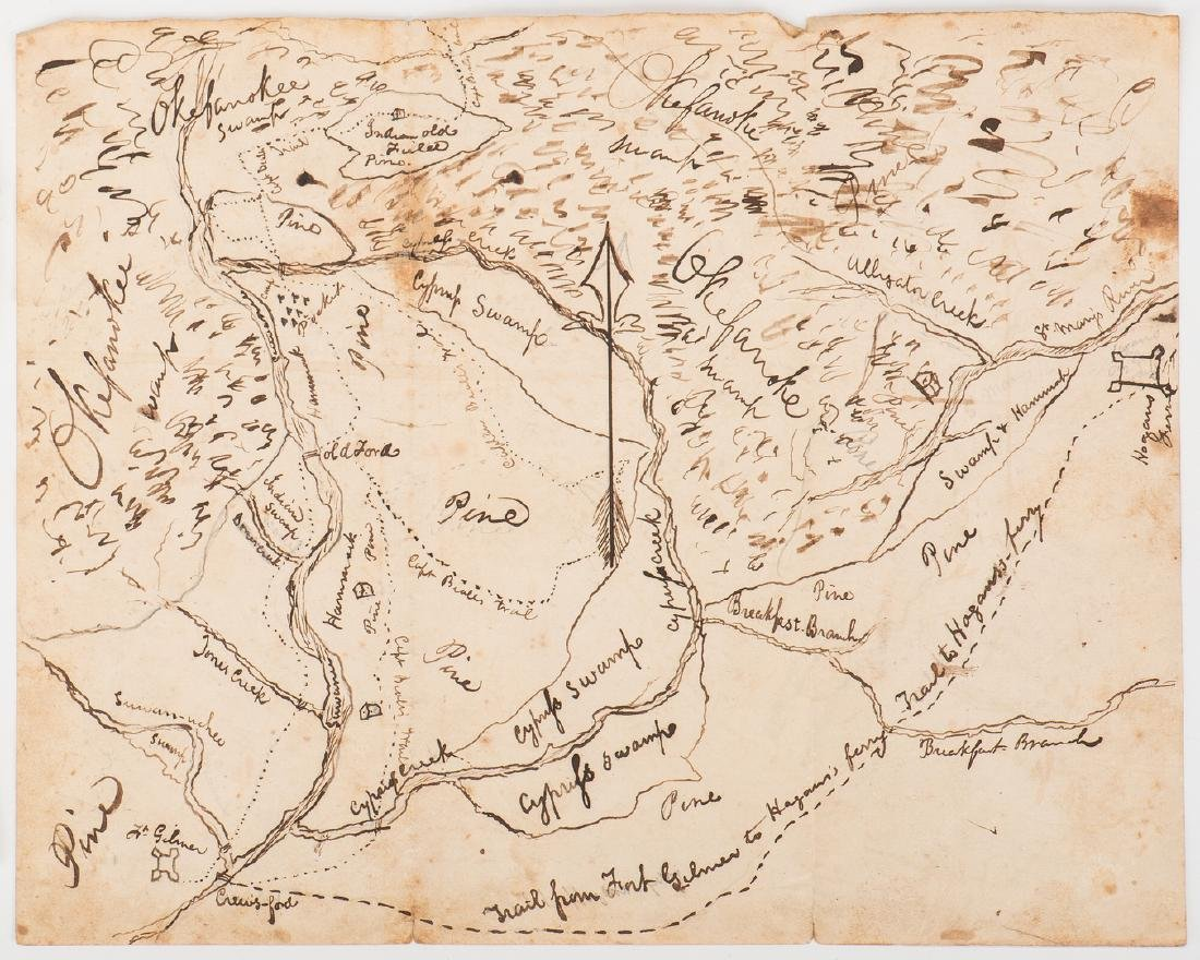 Okefenokee Map & J. Q. Adams Signed Free Franked - 2