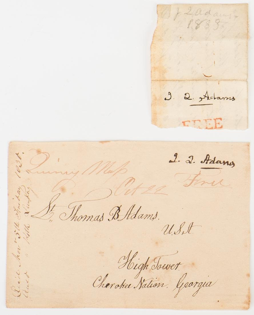 Okefenokee Map & J. Q. Adams Signed Free Franked - 3