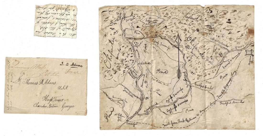 Okefenokee Map & J. Q. Adams Signed Free Franked - 6