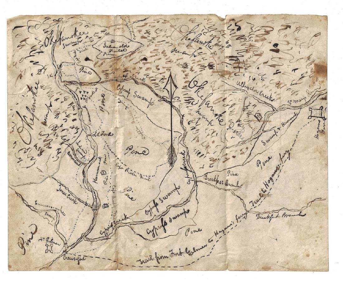 Okefenokee Map & J. Q. Adams Signed Free Franked - 7
