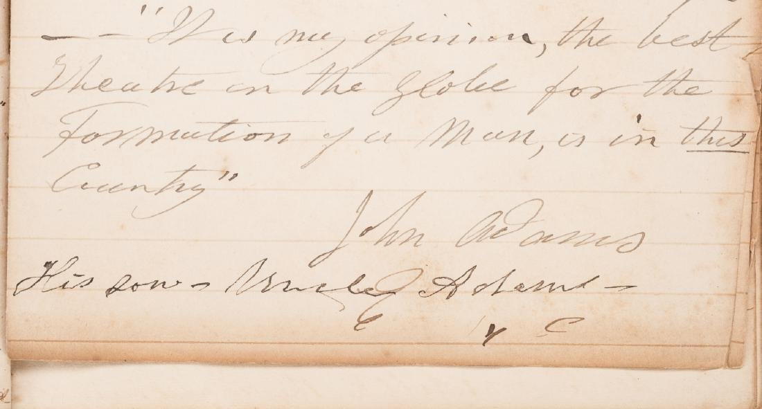 John Q. Adams Handwritten Poem in Album - 10