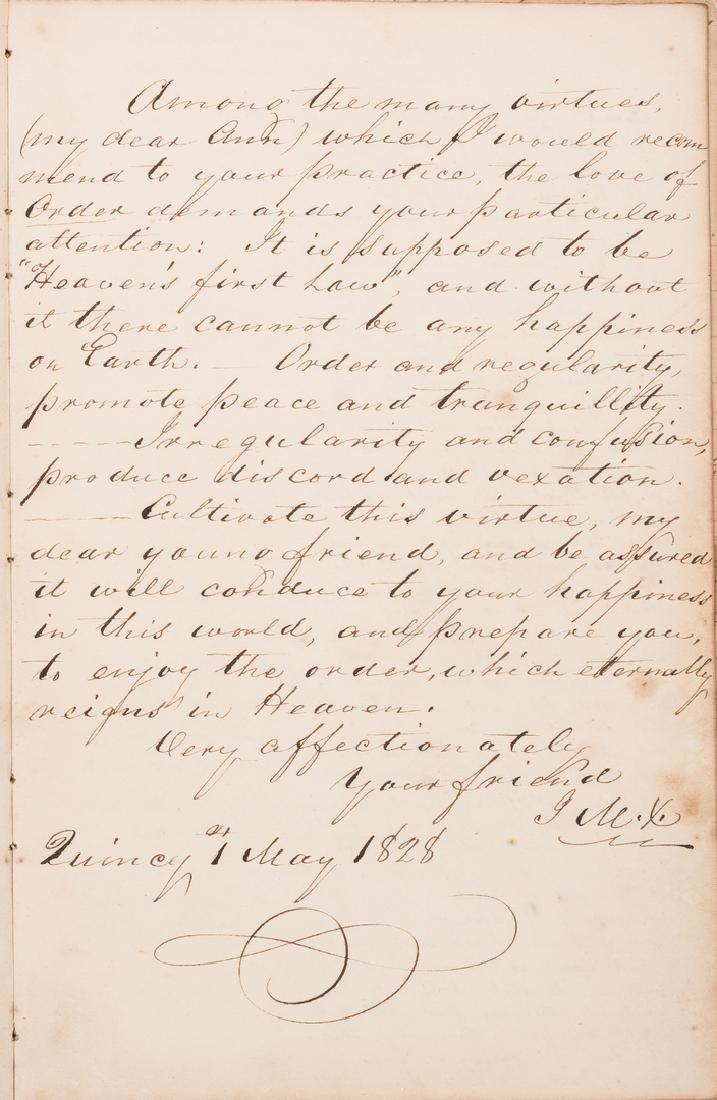John Q. Adams Handwritten Poem in Album - 5