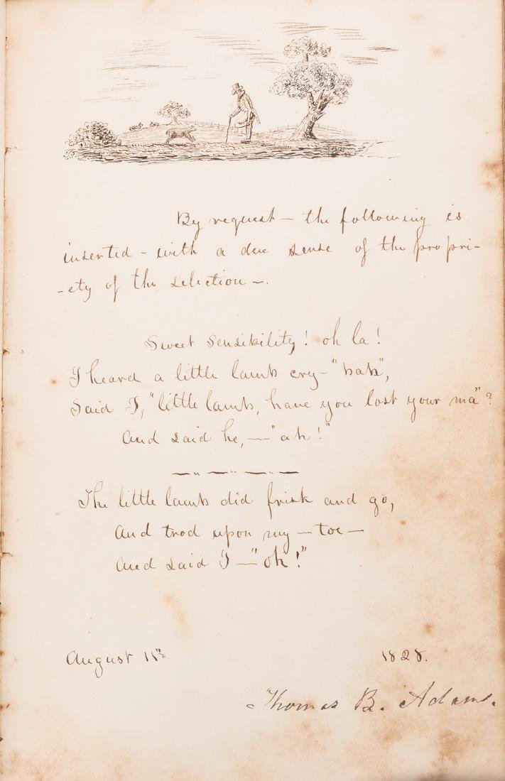 John Q. Adams Handwritten Poem in Album - 7