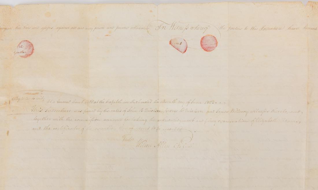 J. Marshall, R. Adams, J. Wickham Indenture, 1803 - 10