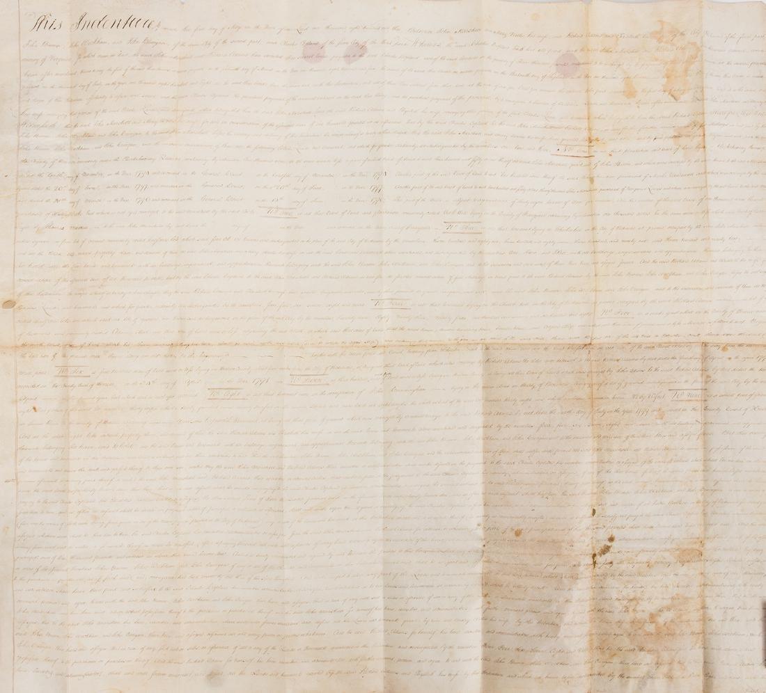 J. Marshall, R. Adams, J. Wickham Indenture, 1803
