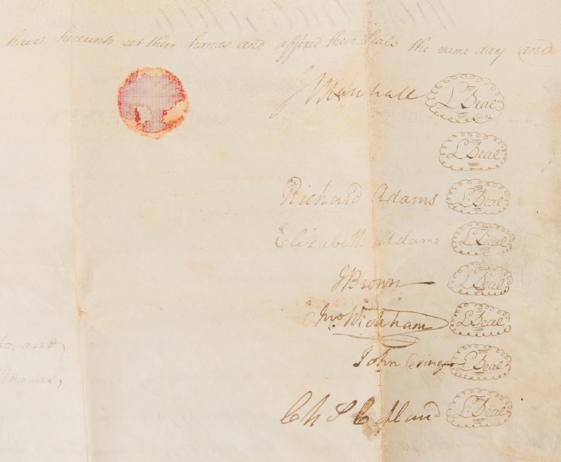 J. Marshall, R. Adams, J. Wickham Indenture, 1803 - 2