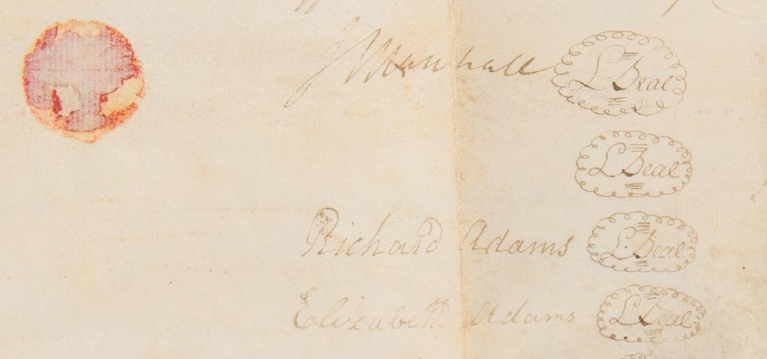 J. Marshall, R. Adams, J. Wickham Indenture, 1803 - 3