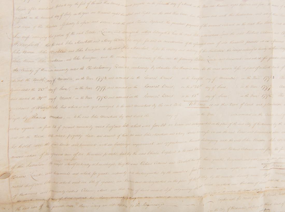 J. Marshall, R. Adams, J. Wickham Indenture, 1803 - 6