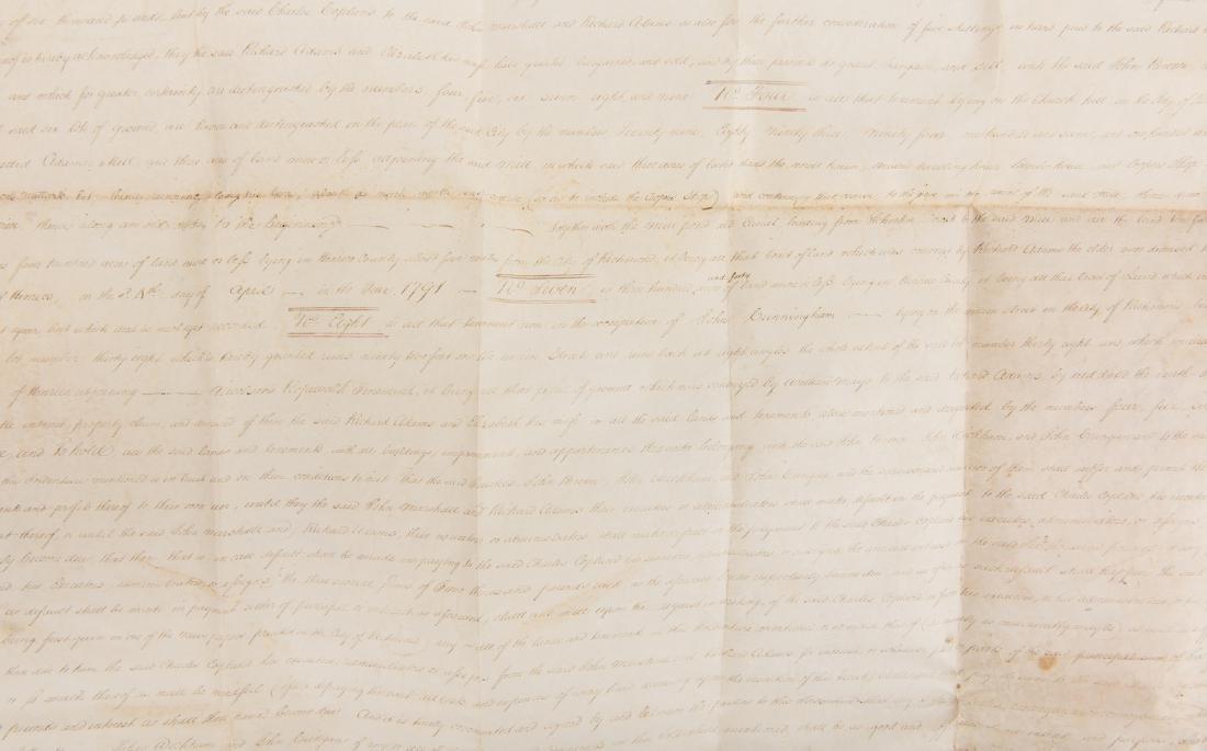 J. Marshall, R. Adams, J. Wickham Indenture, 1803 - 7