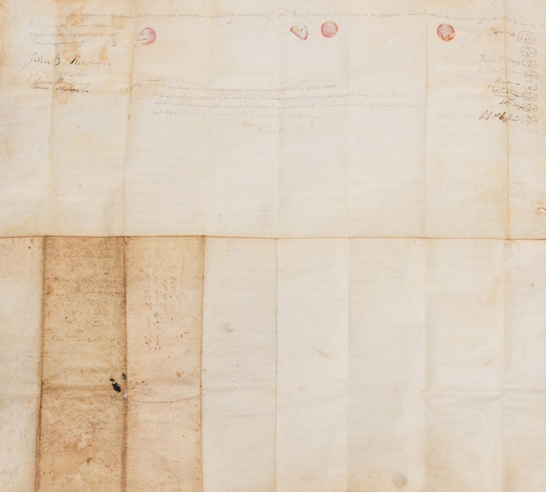 J. Marshall, R. Adams, J. Wickham Indenture, 1803 - 8