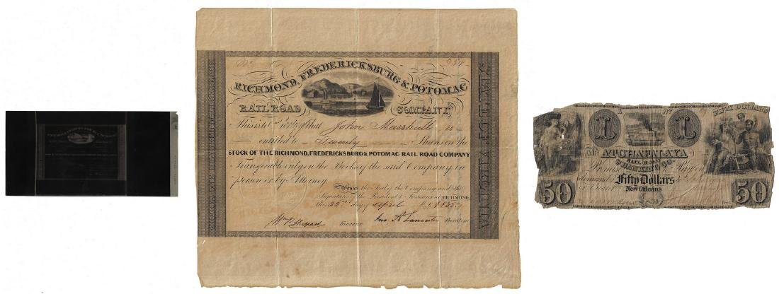 Justice John Marshall Railroad Stock Certificate,