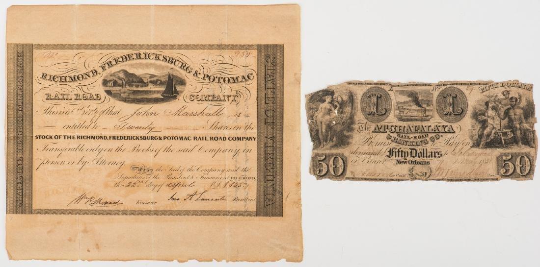 Justice John Marshall Railroad Stock Certificate, - 2