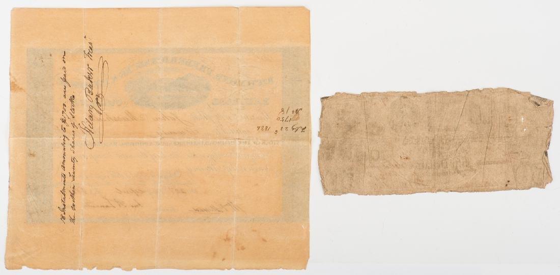 Justice John Marshall Railroad Stock Certificate, - 3