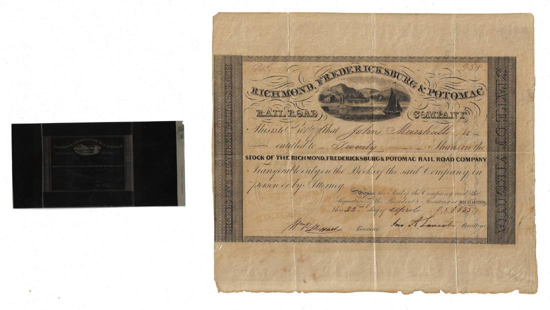 Justice John Marshall Railroad Stock Certificate, - 4