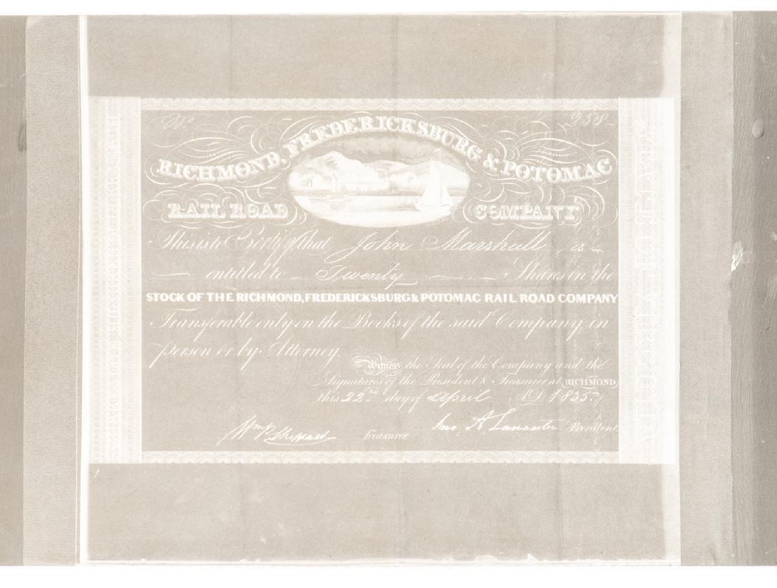 Justice John Marshall Railroad Stock Certificate, - 5