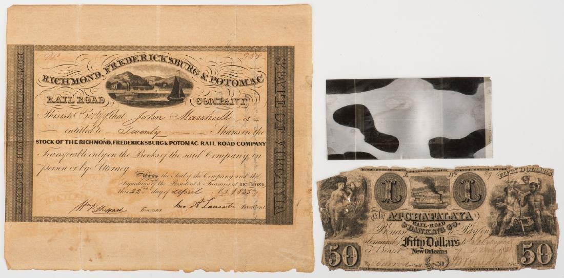 Justice John Marshall Railroad Stock Certificate, - 7