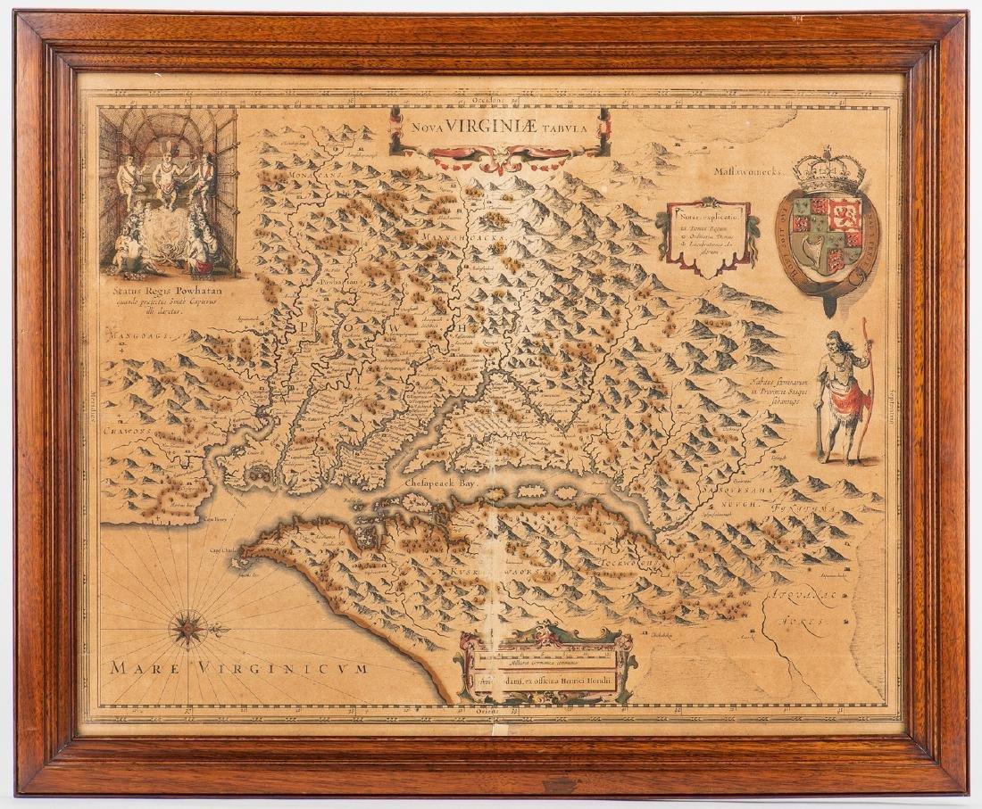 Hondius Map of VA - Nova Virginiae Tabula, 1636-1641 - 2