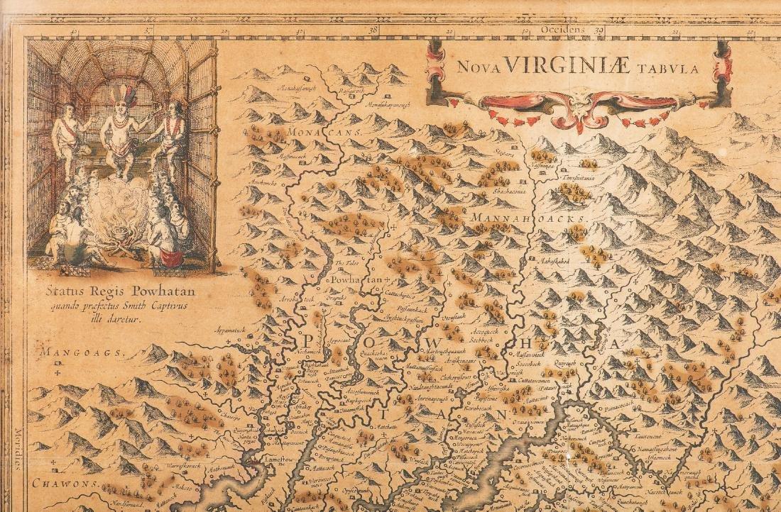 Hondius Map of VA - Nova Virginiae Tabula, 1636-1641 - 3