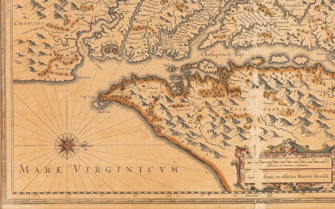 Hondius Map of VA - Nova Virginiae Tabula, 1636-1641 - 5