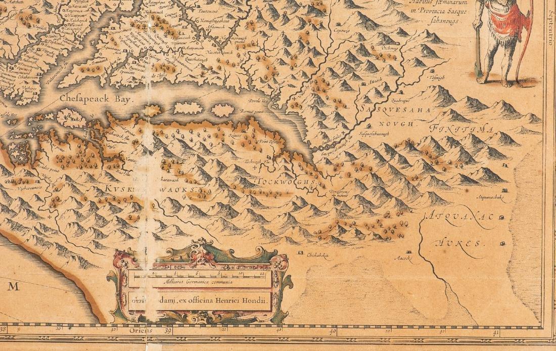 Hondius Map of VA - Nova Virginiae Tabula, 1636-1641 - 6