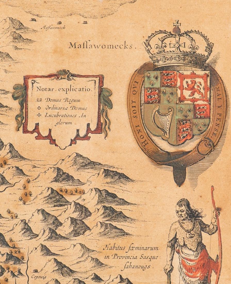 Hondius Map of VA - Nova Virginiae Tabula, 1636-1641 - 9