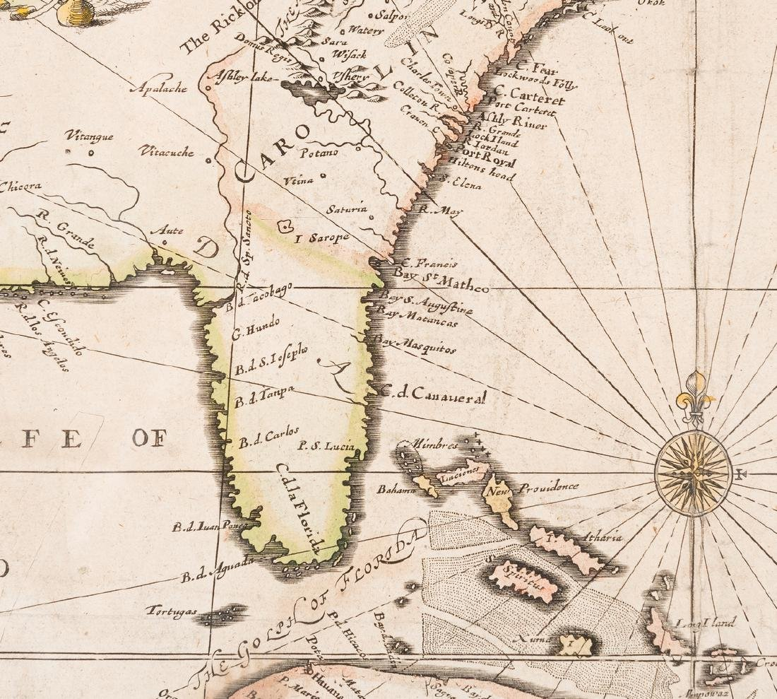 Morden 1673 Virginia Map of English Plantations - 10