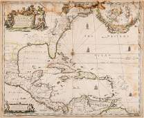 Morden 1673 Virginia Map of English Plantations