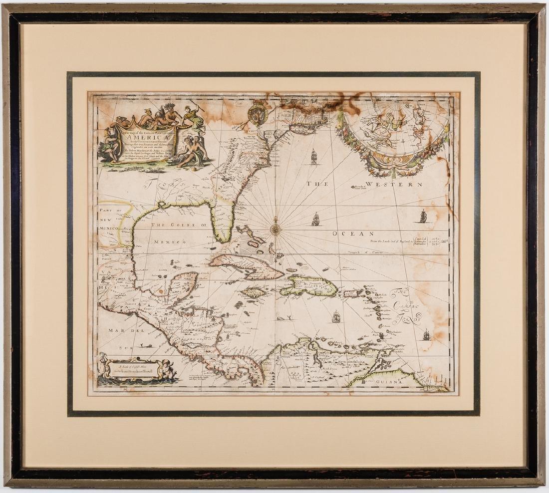 Morden 1673 Virginia Map of English Plantations - 2