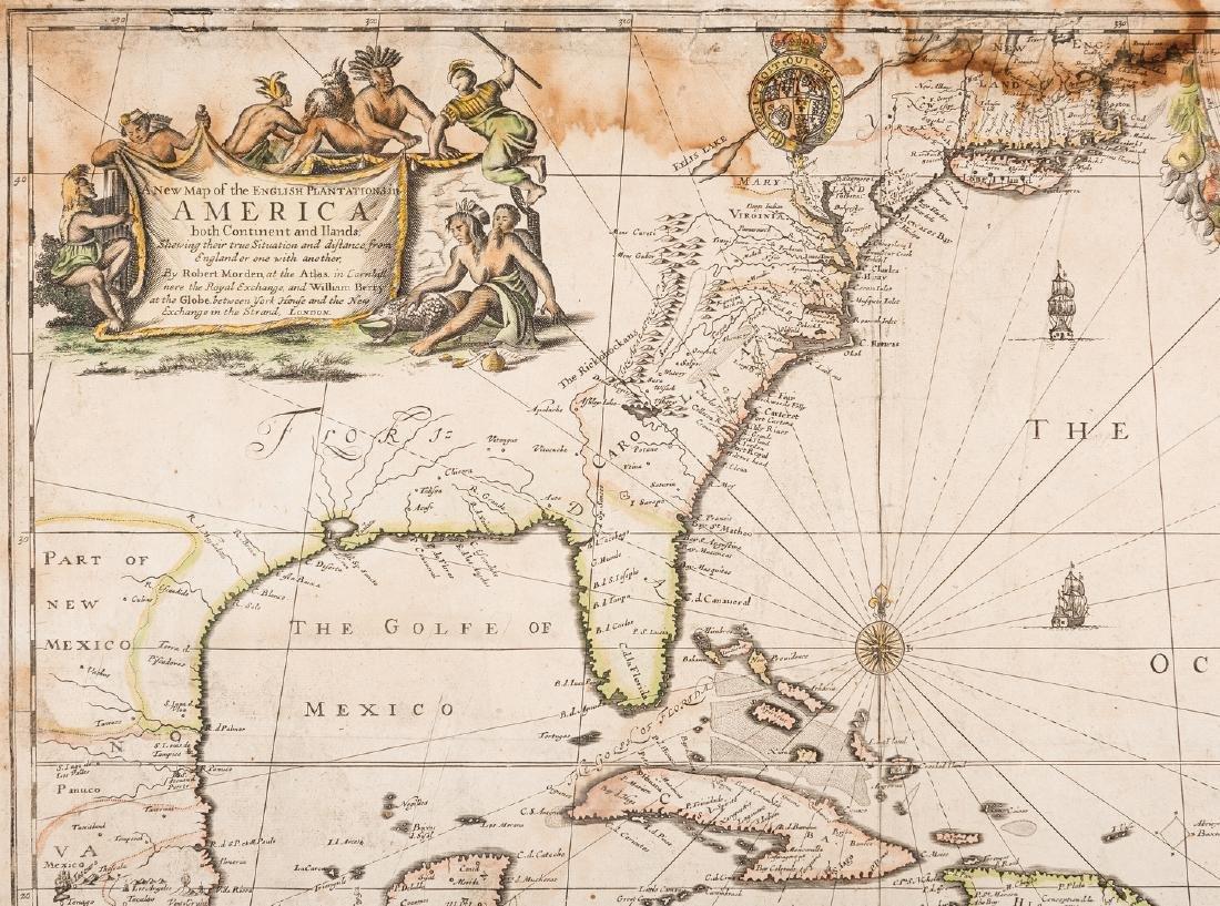 Morden 1673 Virginia Map of English Plantations - 3