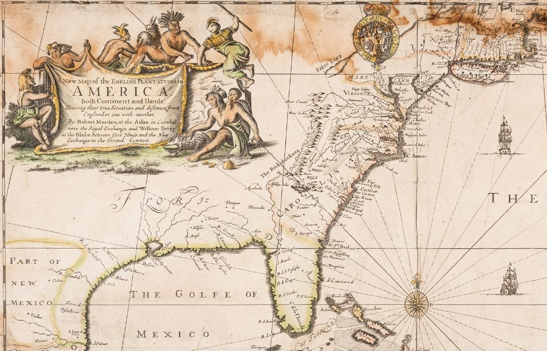 Morden 1673 Virginia Map of English Plantations - 4