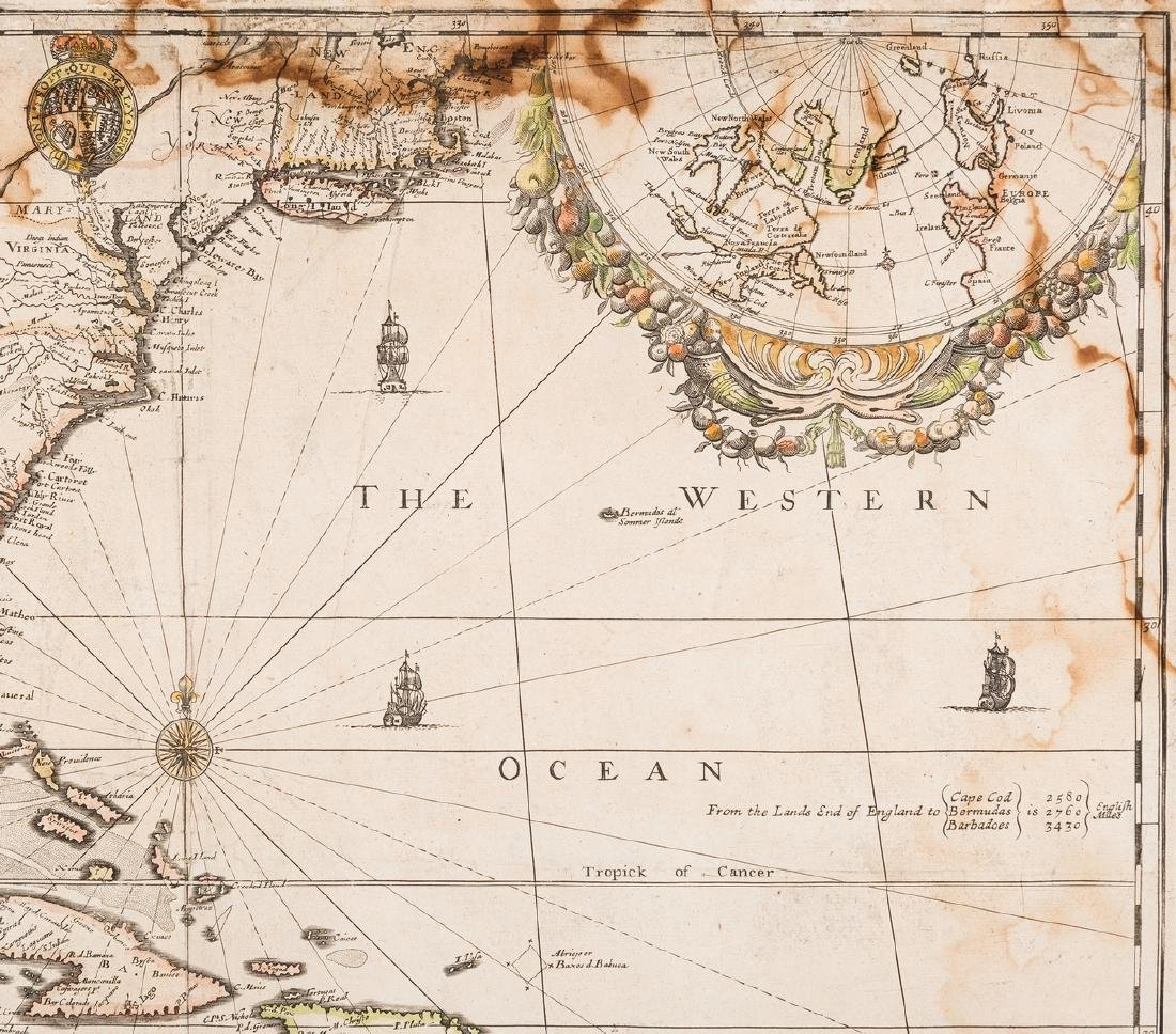 Morden 1673 Virginia Map of English Plantations - 7