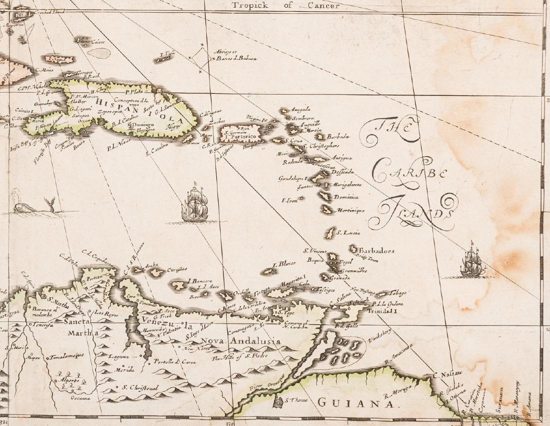 Morden 1673 Virginia Map of English Plantations - 9