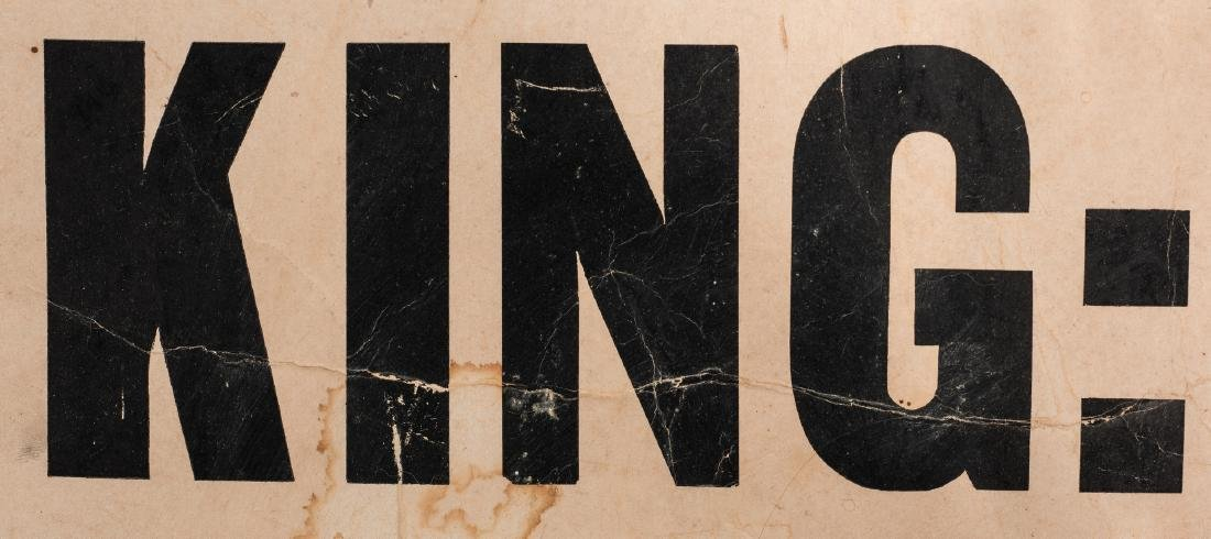 Civil Rights Era Sign: Honor King - End Racism - 7