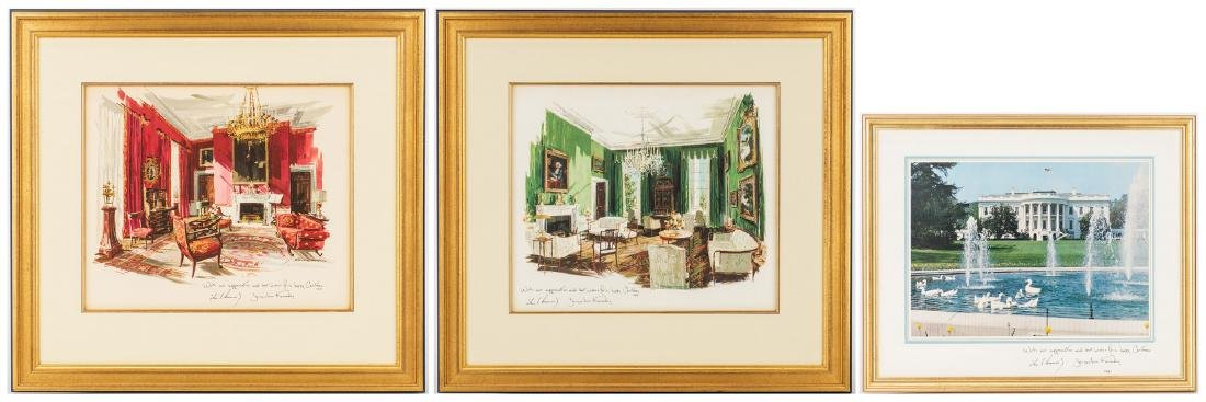3 John F. Kennedy Christmas Cards & White House related