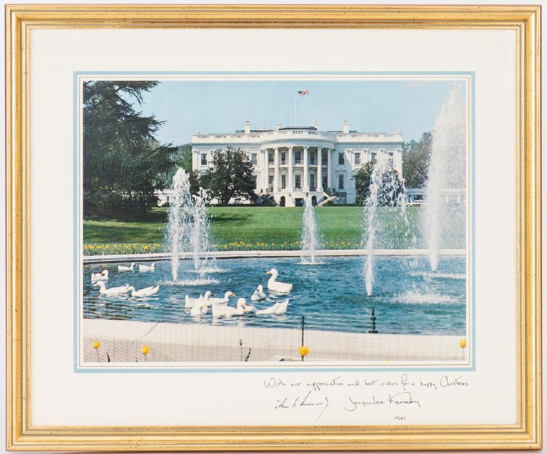 3 John F. Kennedy Christmas Cards & White House related - 2