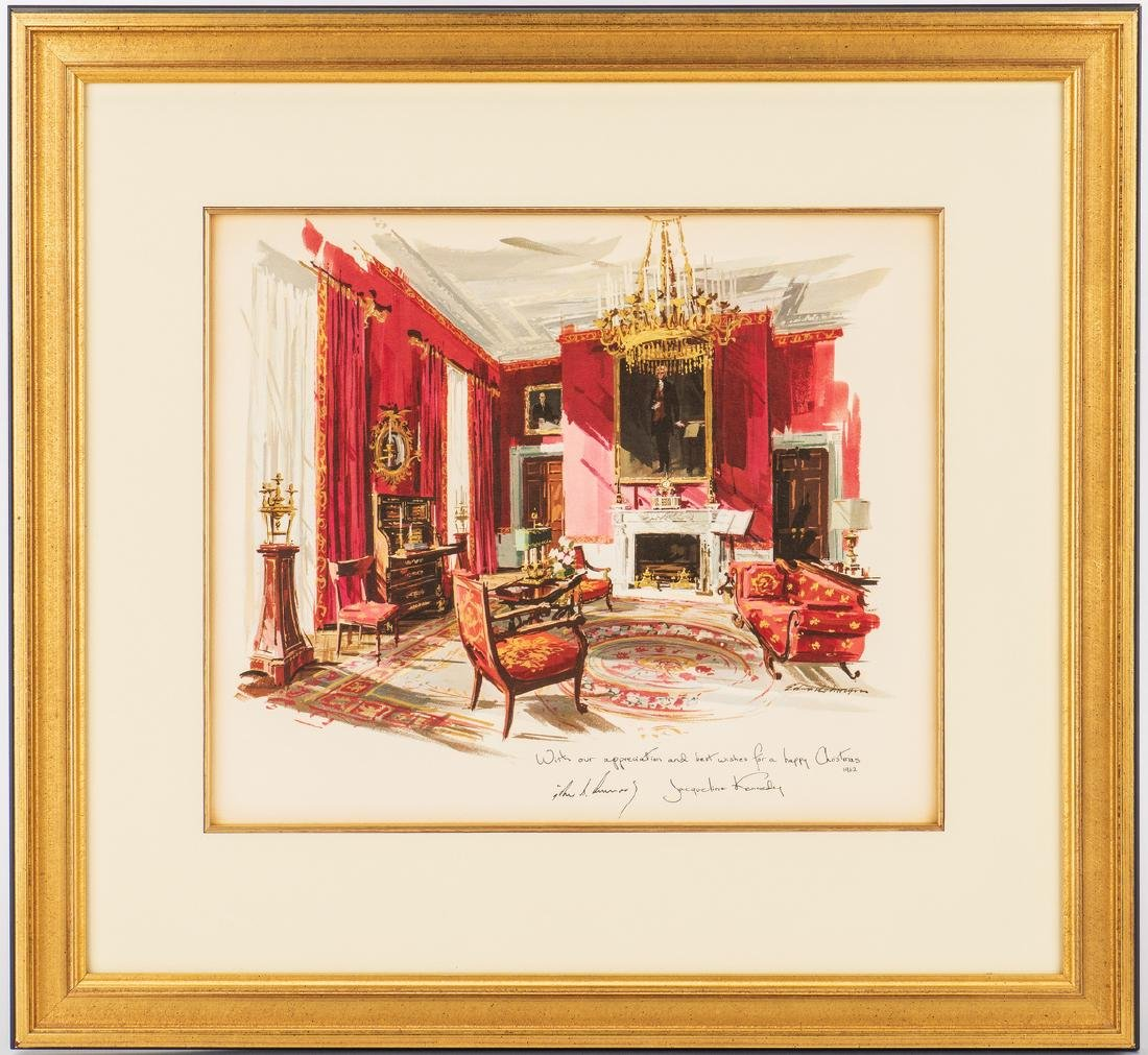 3 John F. Kennedy Christmas Cards & White House related - 4