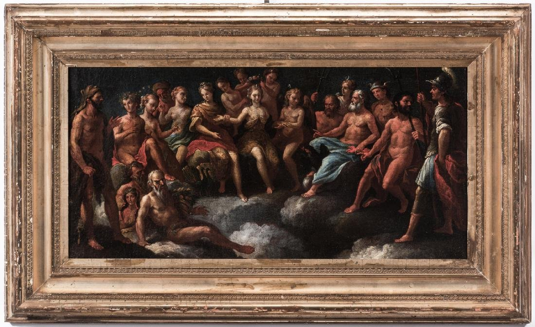 Old Master Mythological O/C, Crowning of Aphrodite