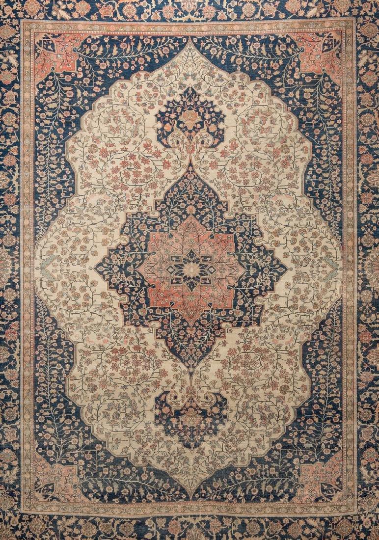 Antique Persian Mohtasham Kashan - 6