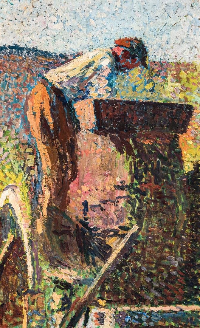 Henri Jean Guillaume Martin Oil, Authenticated - 2