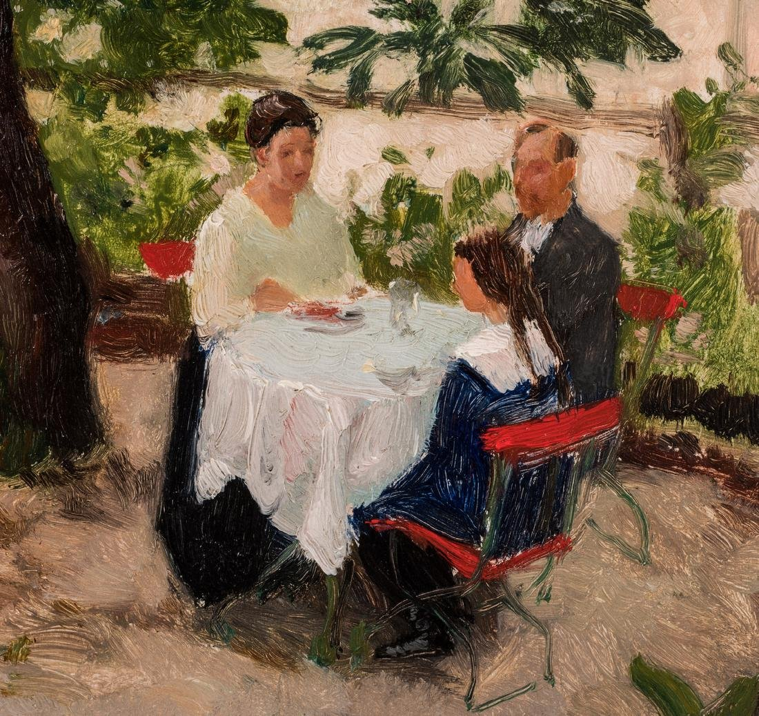 Franz Windhager oil, Dining on a Terrace - 4